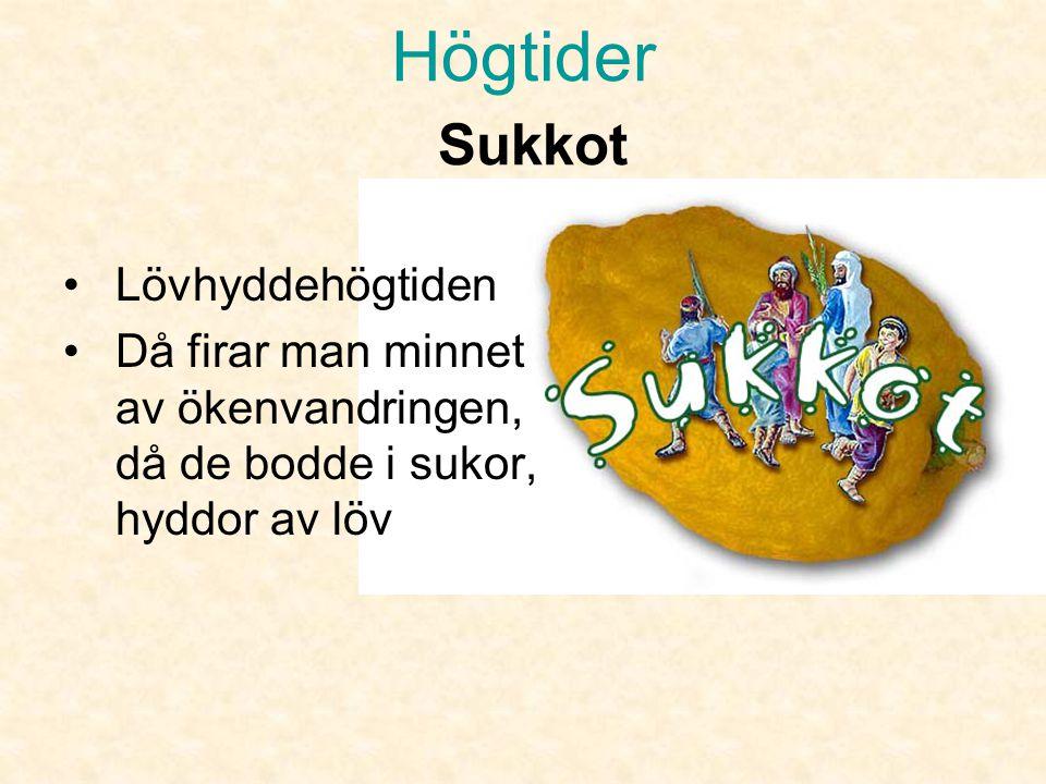 Högtider Sukkot Lövhyddehögtiden