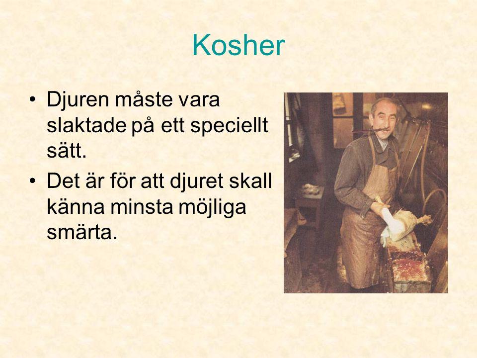 Kosher Djuren måste vara slaktade på ett speciellt sätt.