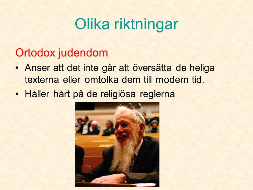 Olika riktningar Ortodox judendom