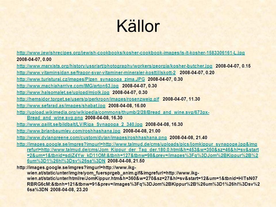 Källor http://www.jewishrecipes.org/jewish-cookbooks/kosher-cookbook-images/is-it-kosher-1583306161-L.jpg.