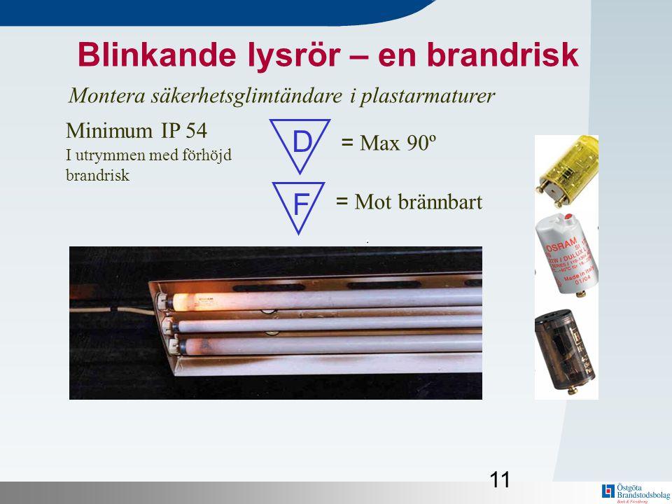 Blinkande lysrör – en brandrisk