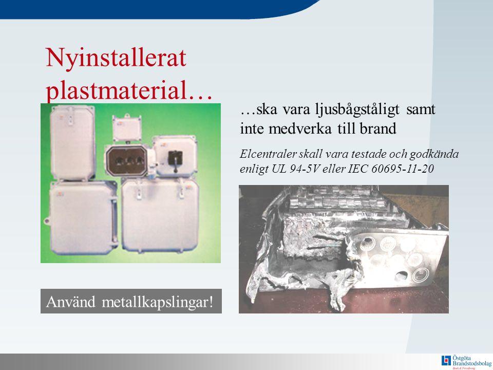 Nyinstallerat plastmaterial…