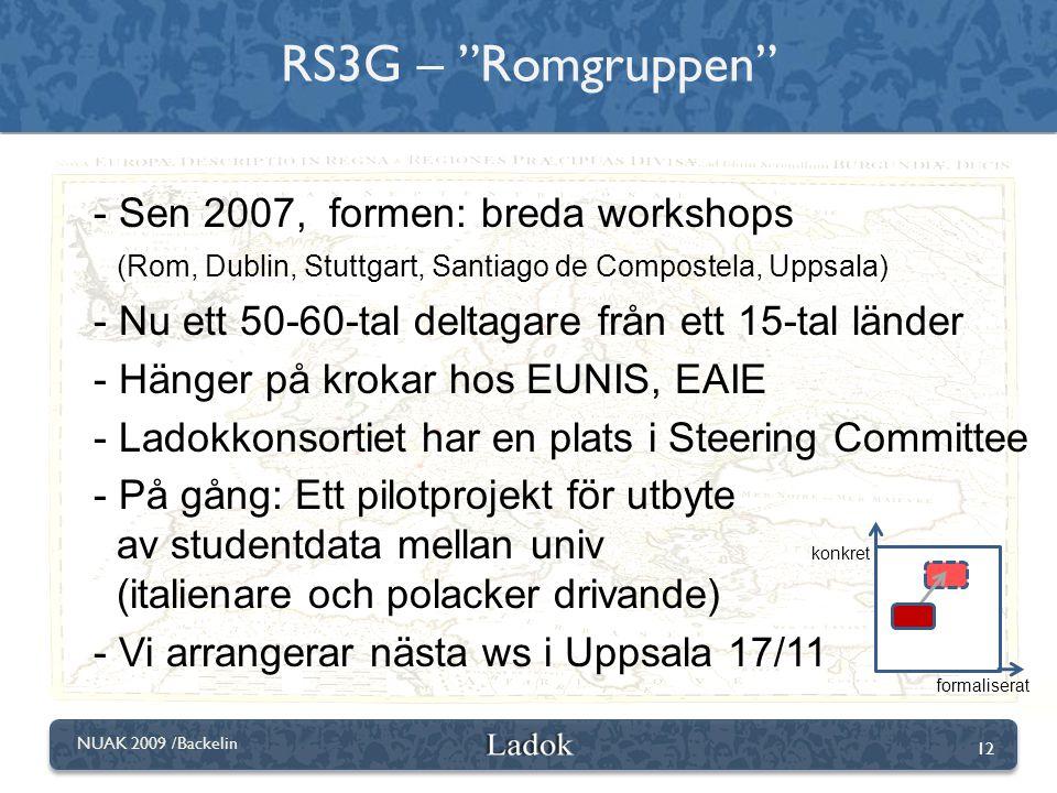 RS3G – Romgruppen Sen 2007, formen: breda workshops
