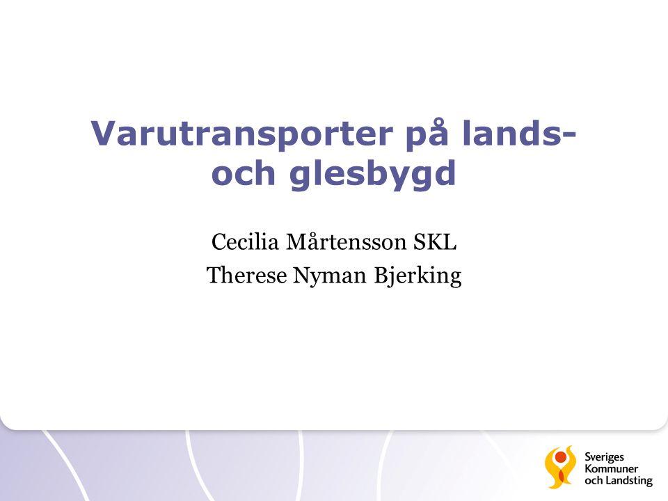 Varutransporter på lands- och glesbygd