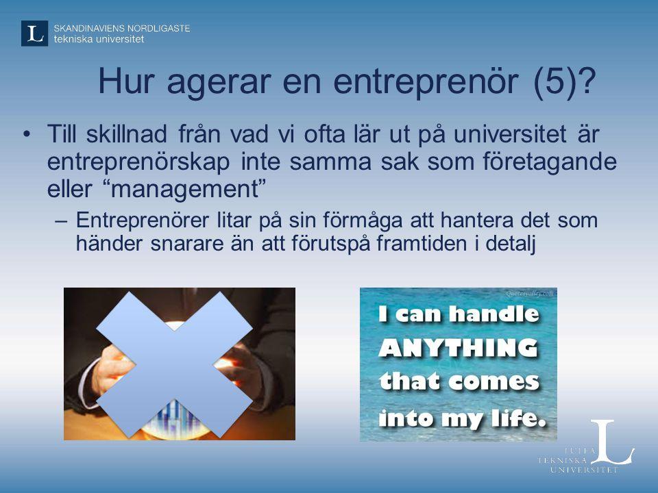 Hur agerar en entreprenör (5)