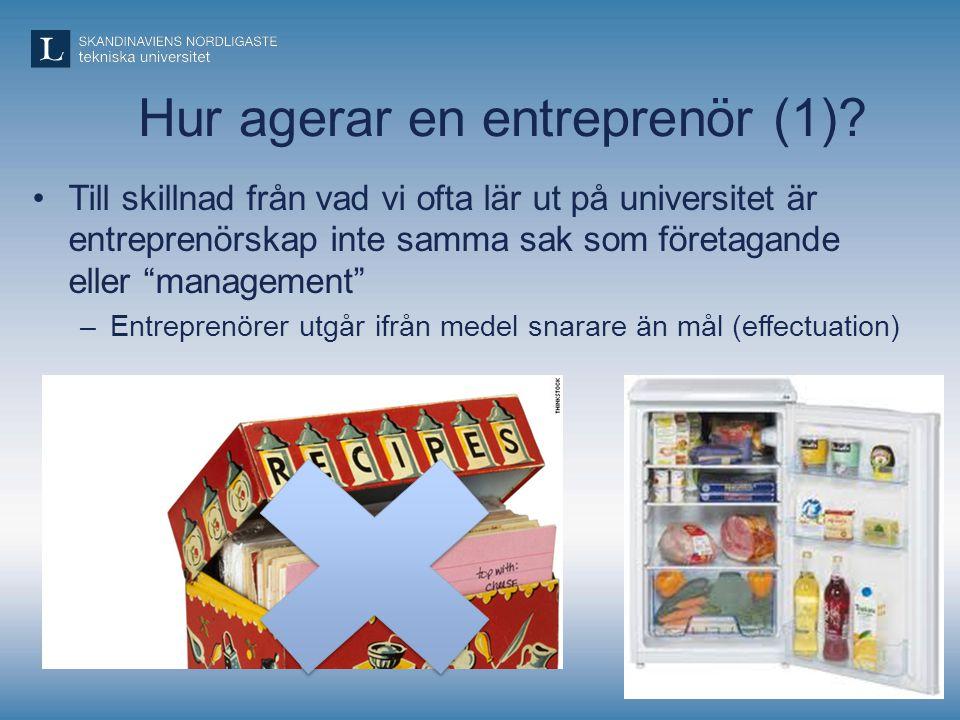 Hur agerar en entreprenör (1)