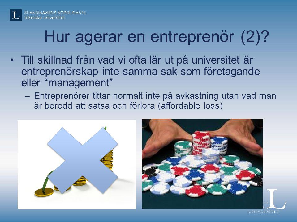 Hur agerar en entreprenör (2)