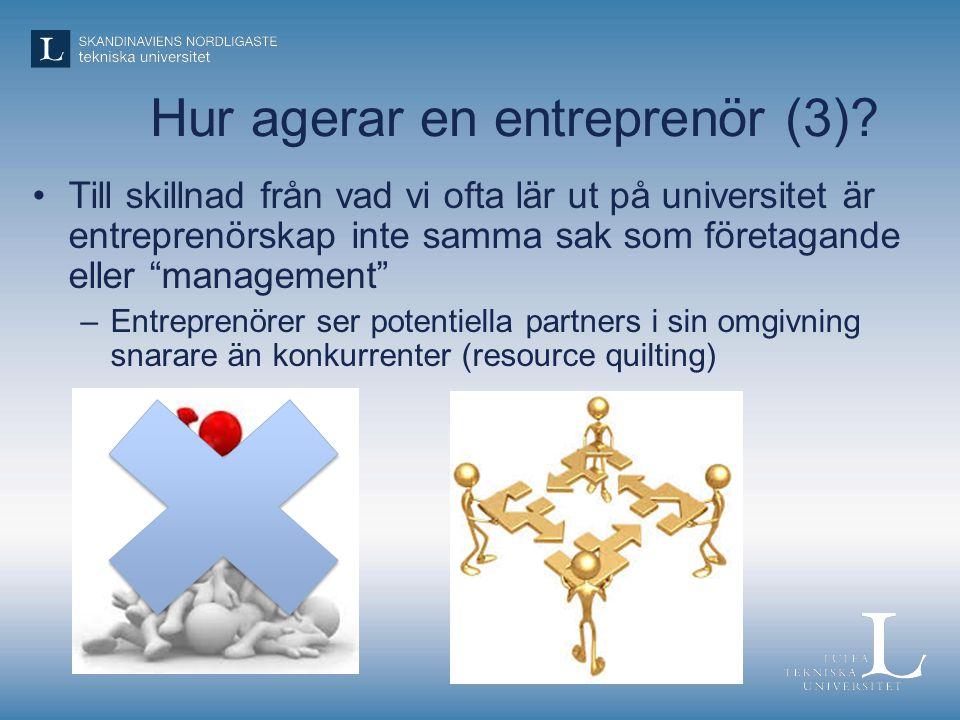 Hur agerar en entreprenör (3)