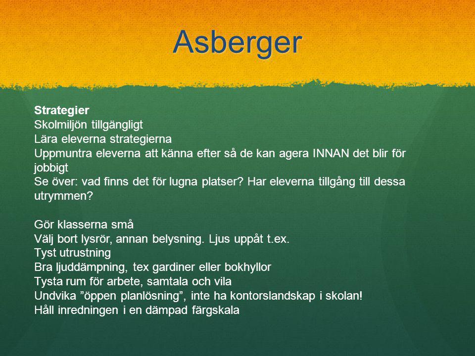 Asberger Strategier Skolmiljön tillgängligt Lära eleverna strategierna