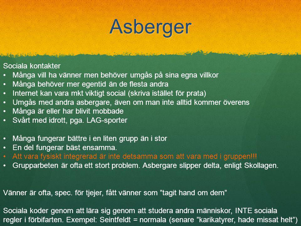Asberger Sociala kontakter