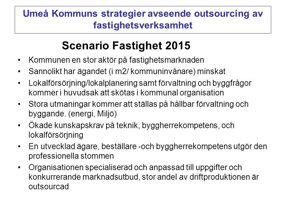 Umeå Kommuns strategier avseende outsourcing av fastighetsverksamhet