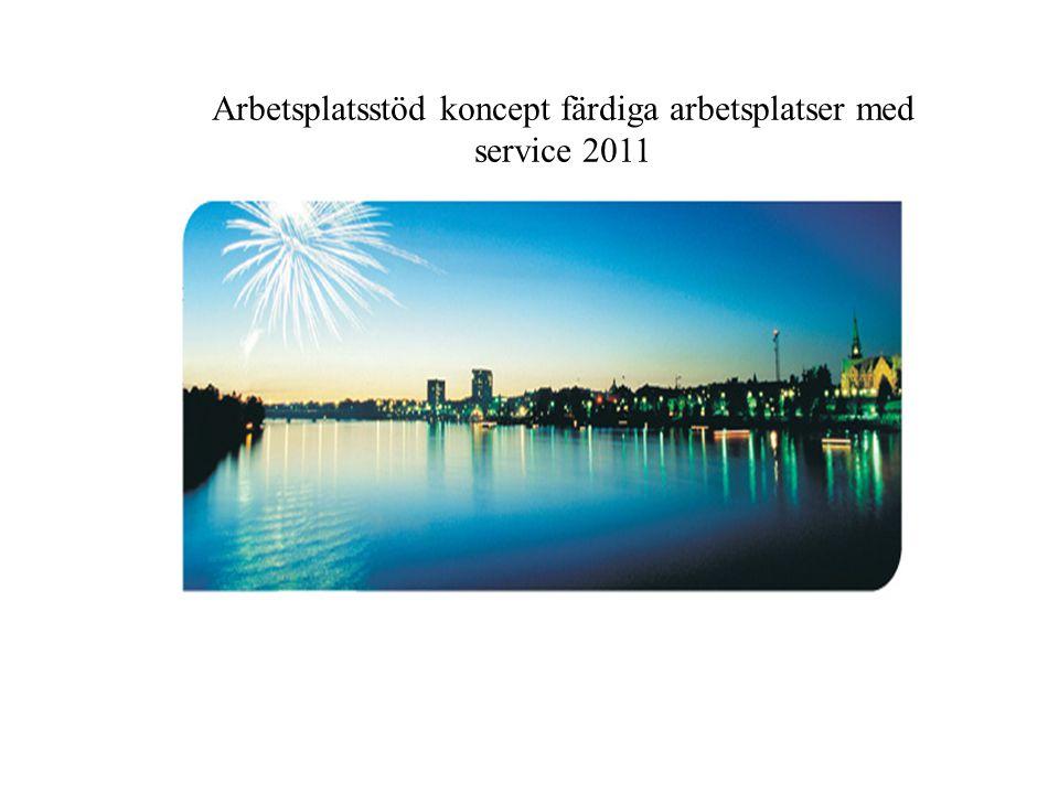 Arbetsplatsstöd koncept färdiga arbetsplatser med service 2011