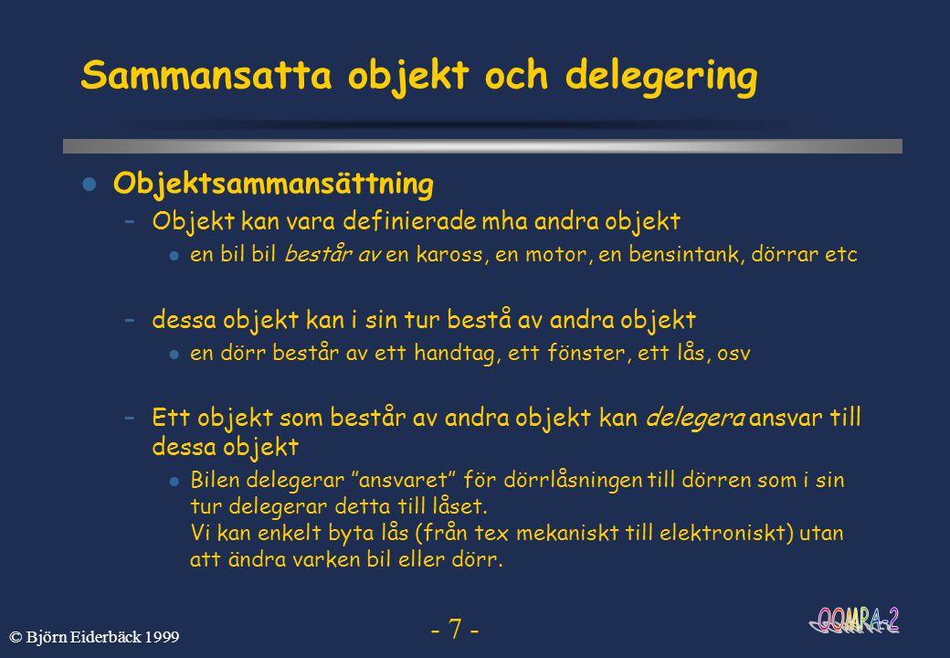 Sammansatta objekt och delegering