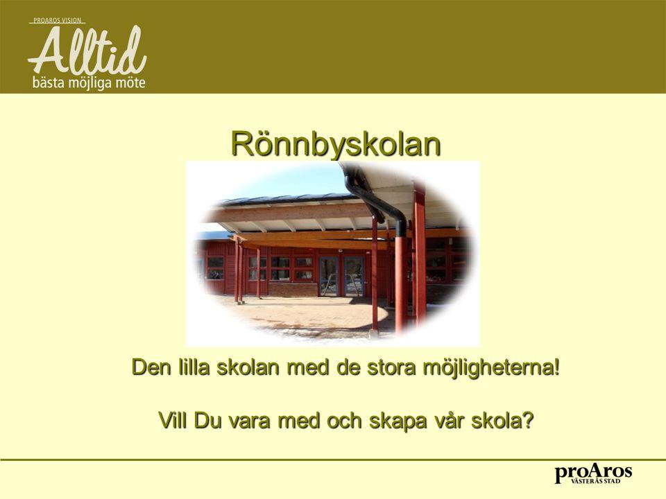 Rönnbyskolan Den lilla skolan med de stora möjligheterna!