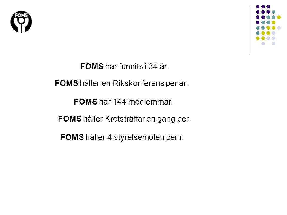 FOMS håller en Rikskonferens per år.