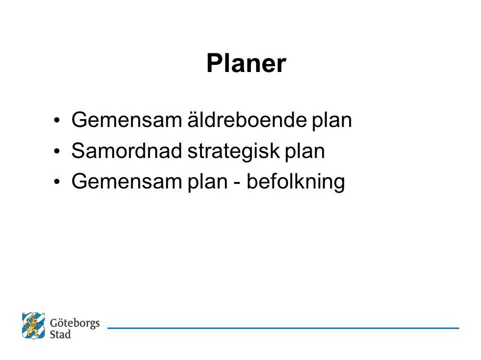 Planer Gemensam äldreboende plan Samordnad strategisk plan