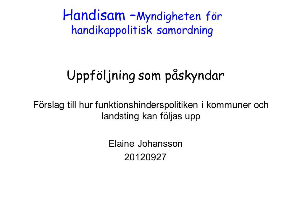 Handisam –Myndigheten för handikappolitisk samordning