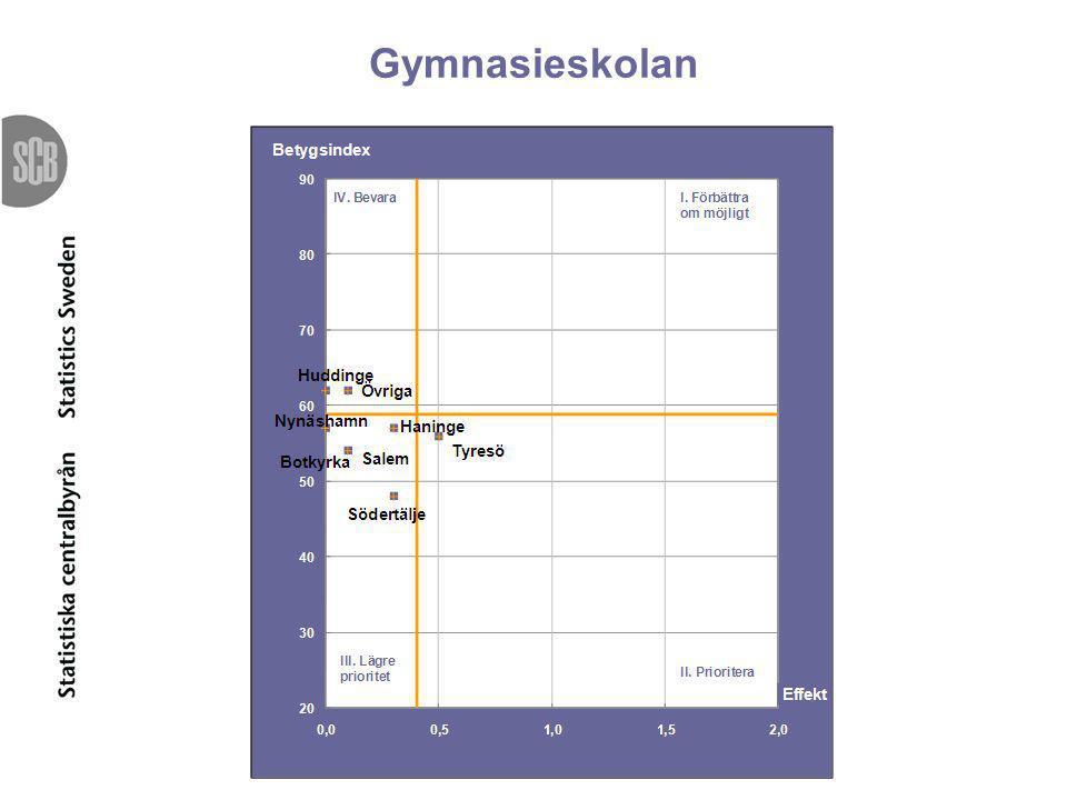Gymnasieskolan Lagt priomatriserna i den ordning som är i rapporten.