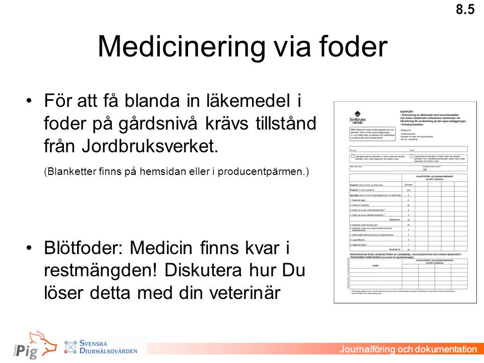 Medicinering via foder