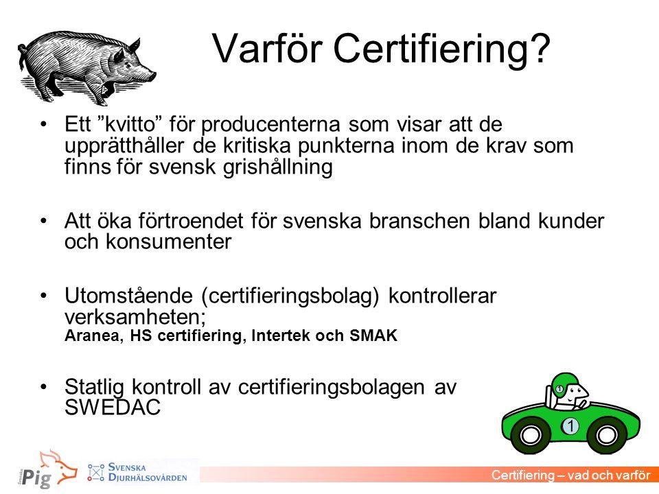 Varför Certifiering