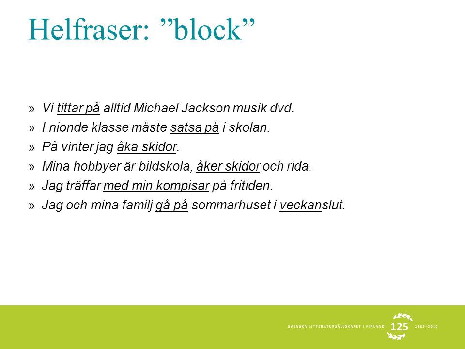 Helfraser: block Vi tittar på alltid Michael Jackson musik dvd.
