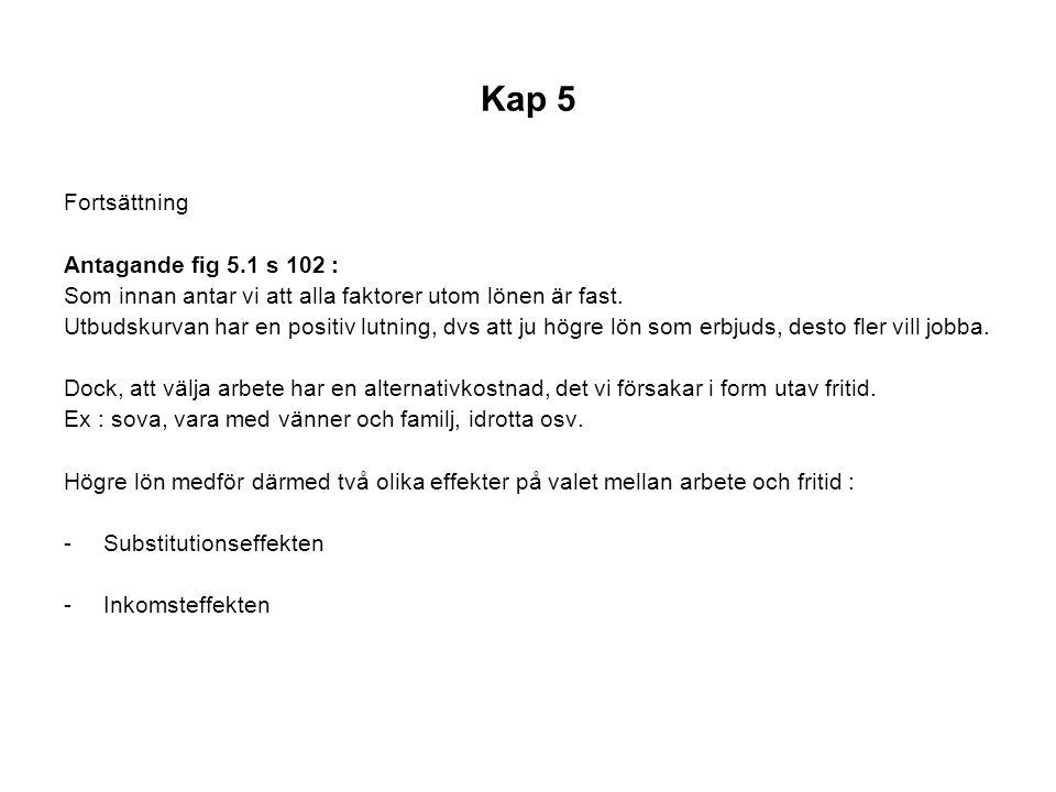 Kap 5 Fortsättning Antagande fig 5.1 s 102 :