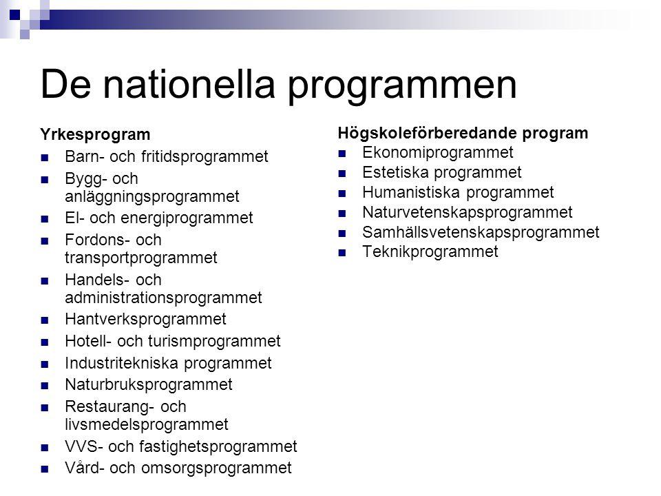 De nationella programmen