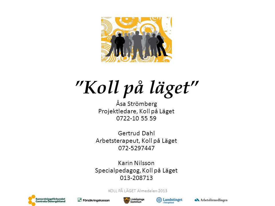 Koll på läget Åsa Strömberg Projektledare, Koll på Läget