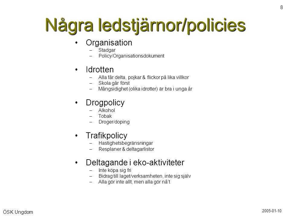Några ledstjärnor/policies