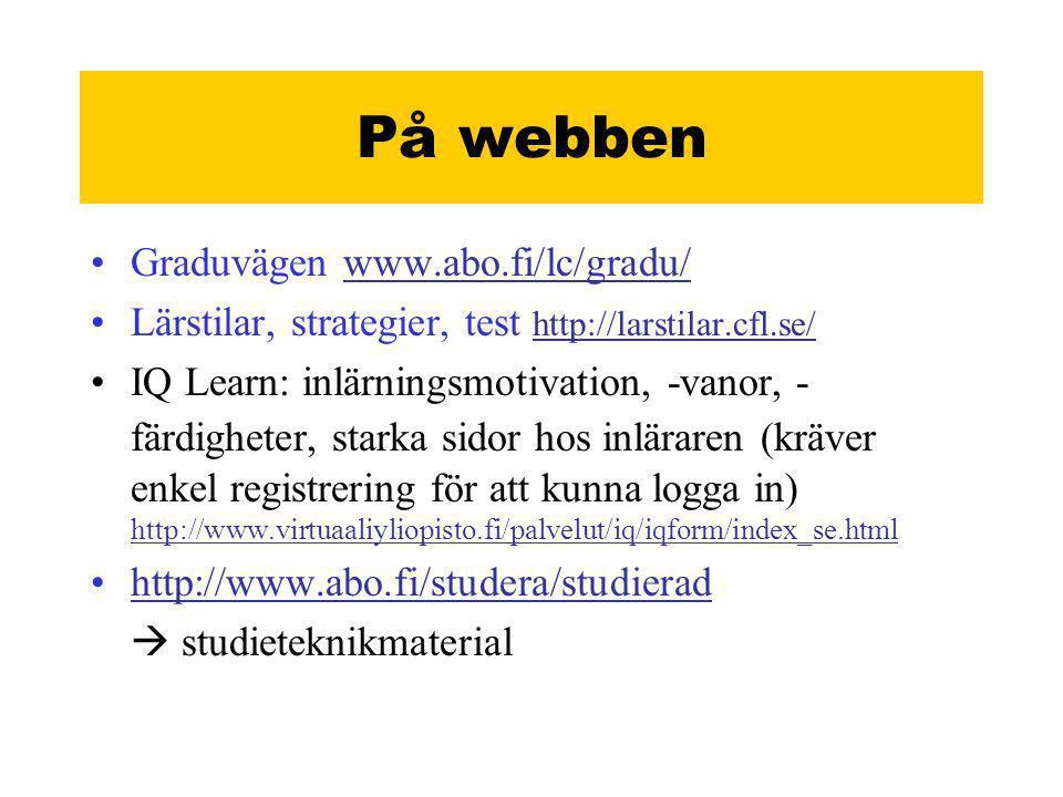 På webben Graduvägen www.abo.fi/lc/gradu/