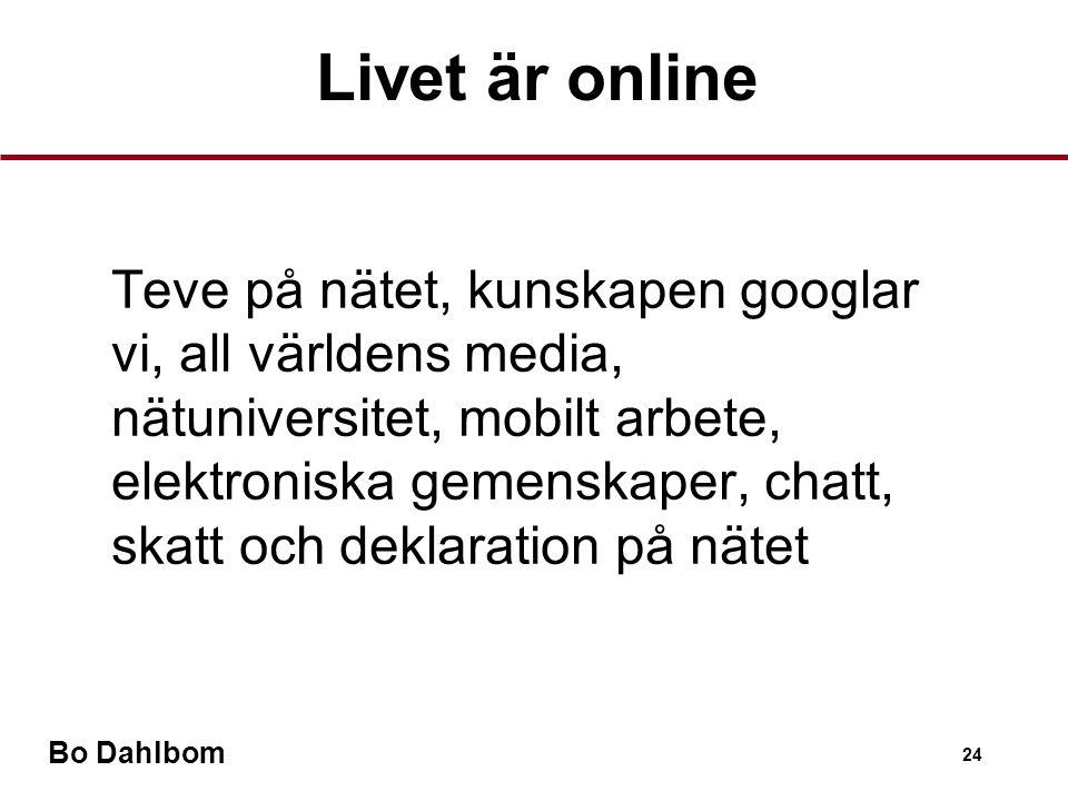 Livet är online
