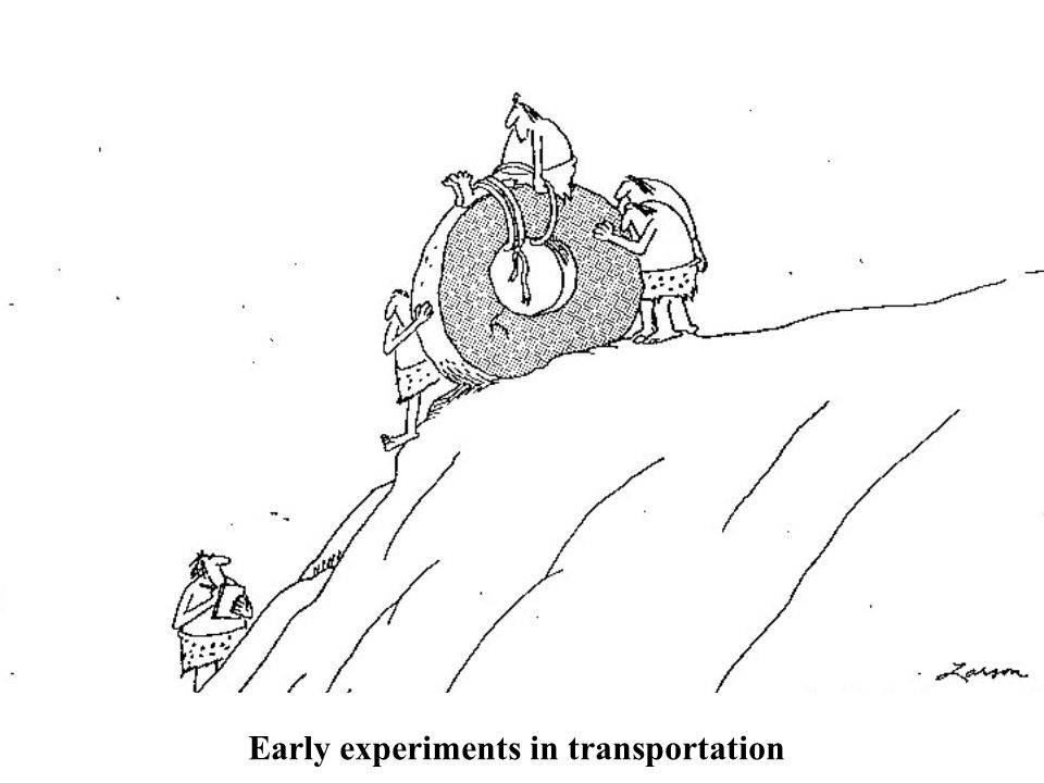 Early experiments in transportation