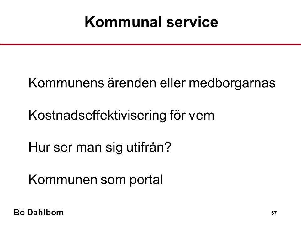 Kommunal service Kommunens ärenden eller medborgarnas