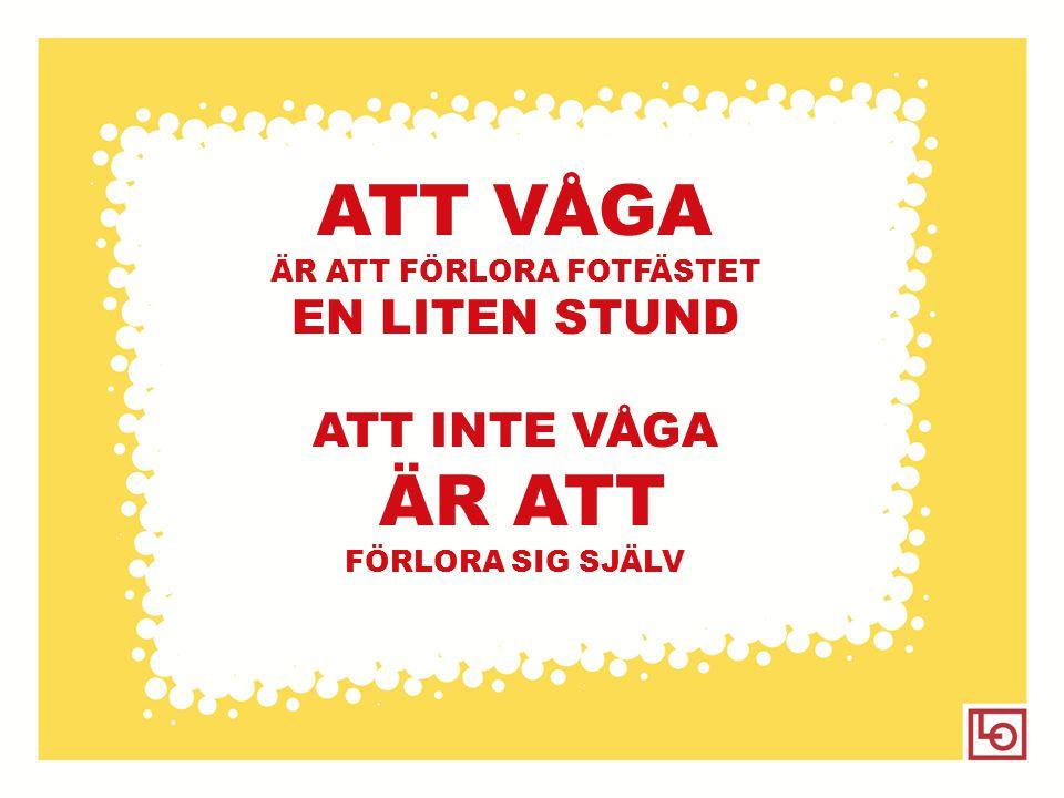 ÄR ATT FÖRLORA FOTFÄSTET