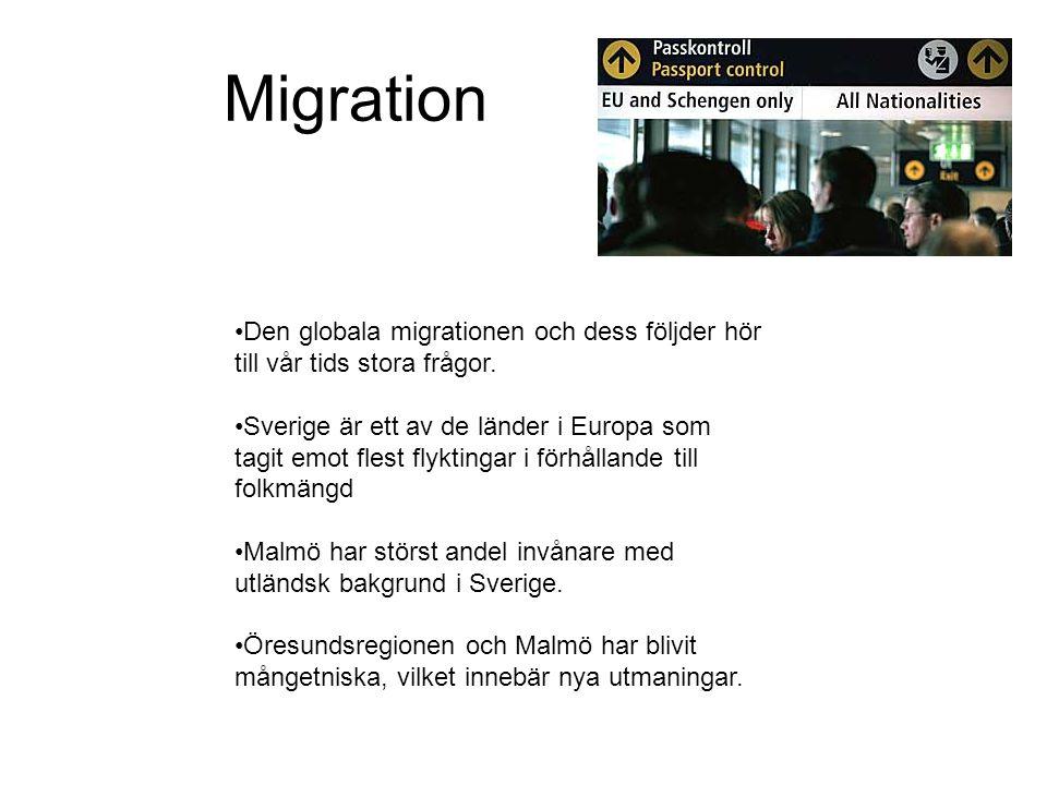 Migration Den globala migrationen och dess följder hör till vår tids stora frågor.