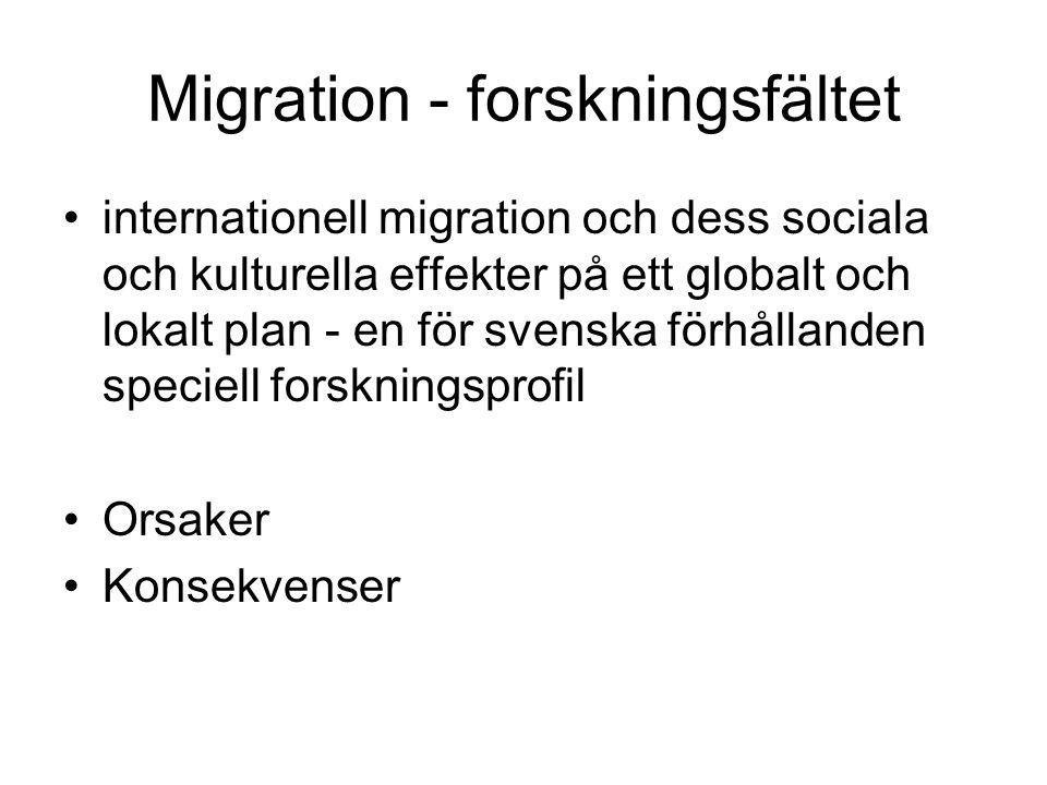 Migration - forskningsfältet