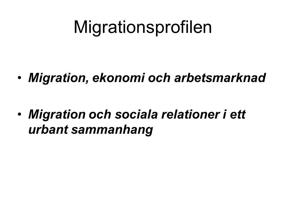 Migrationsprofilen Migration, ekonomi och arbetsmarknad