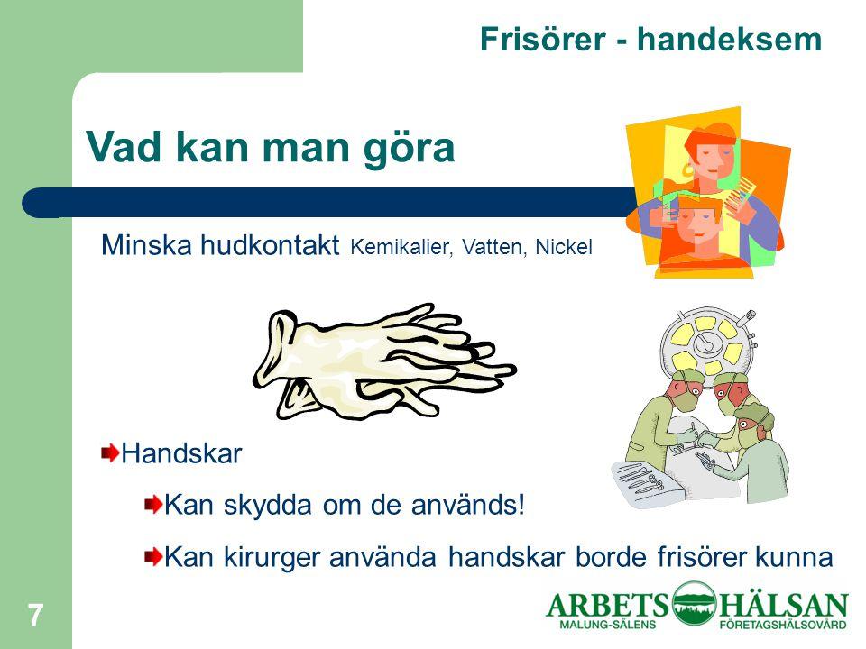 Vad kan man göra Frisörer - handeksem
