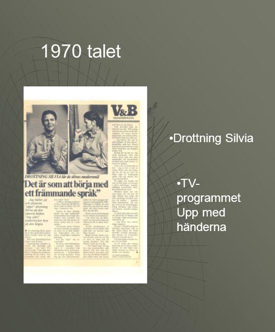1970 talet Drottning Silvia TV-programmet Upp med händerna