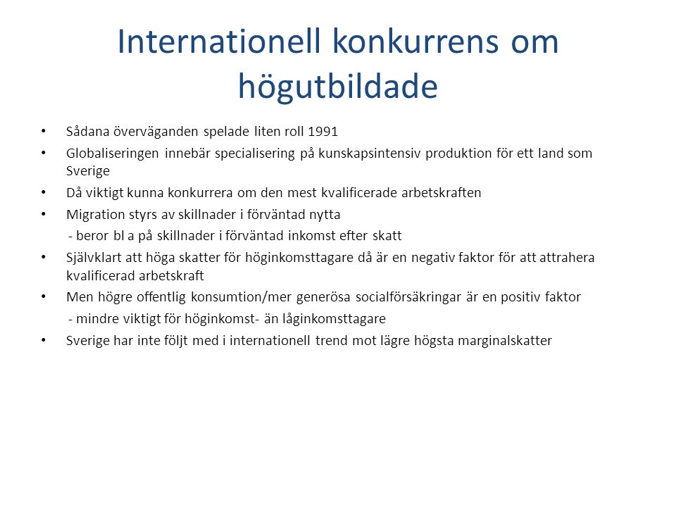 Internationell konkurrens om högutbildade