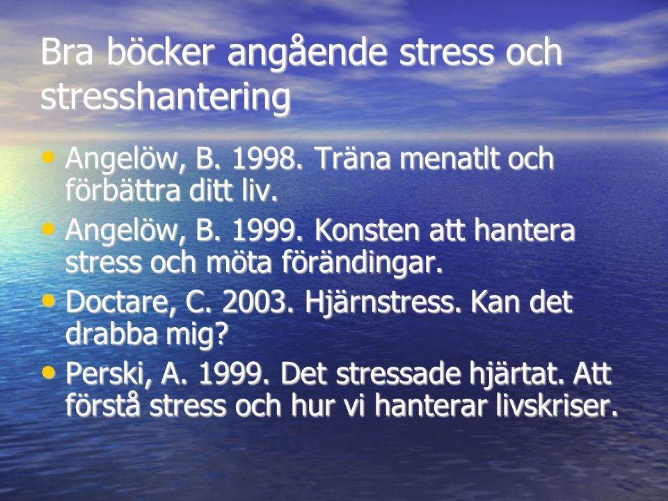 Bra böcker angående stress och stresshantering