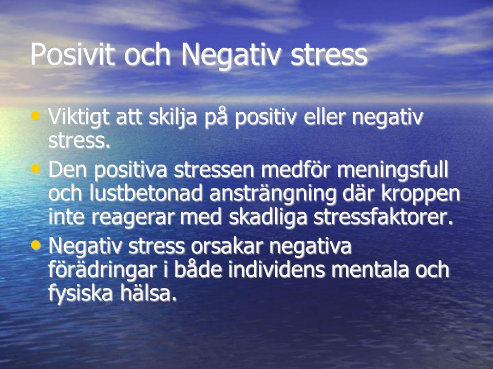 Posivit och Negativ stress
