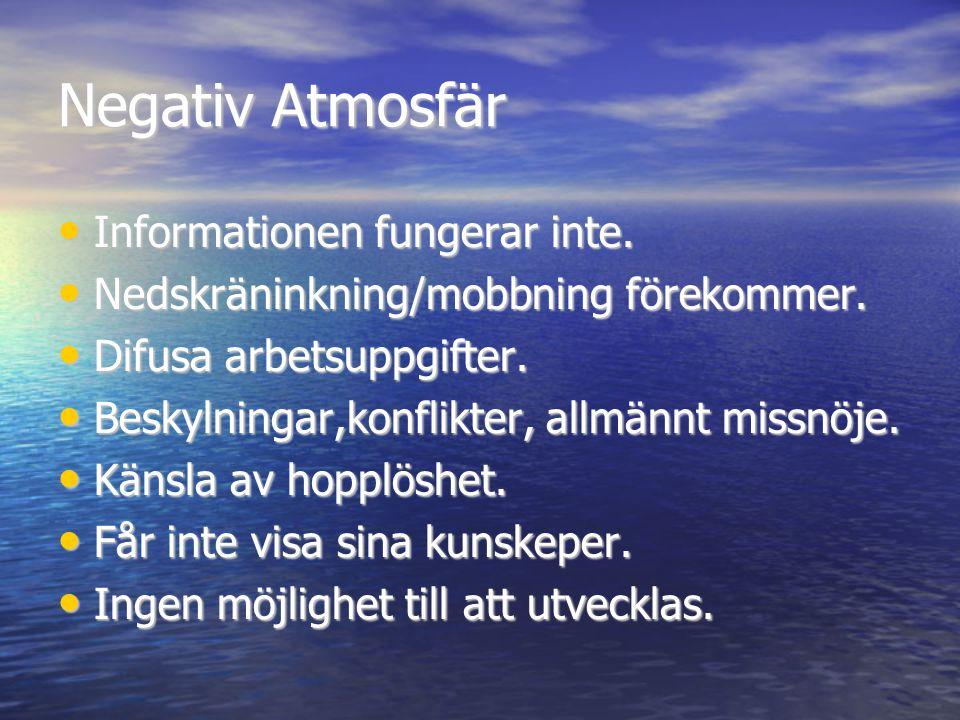 Negativ Atmosfär Informationen fungerar inte.