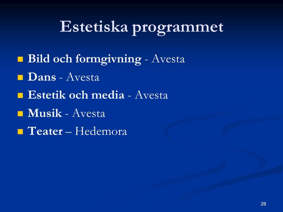 Estetiska programmet Bild och formgivning - Avesta Dans - Avesta