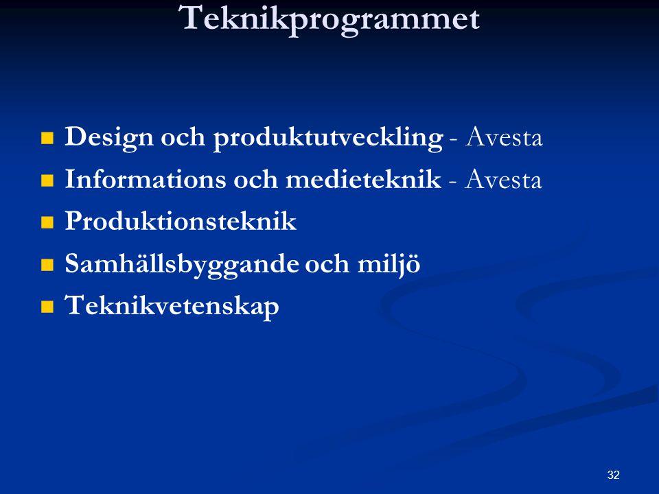 Teknikprogrammet Design och produktutveckling - Avesta
