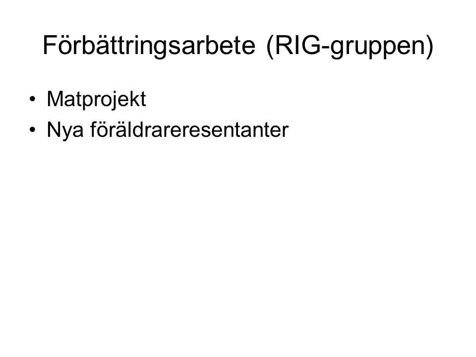 Förbättringsarbete (RIG-gruppen)