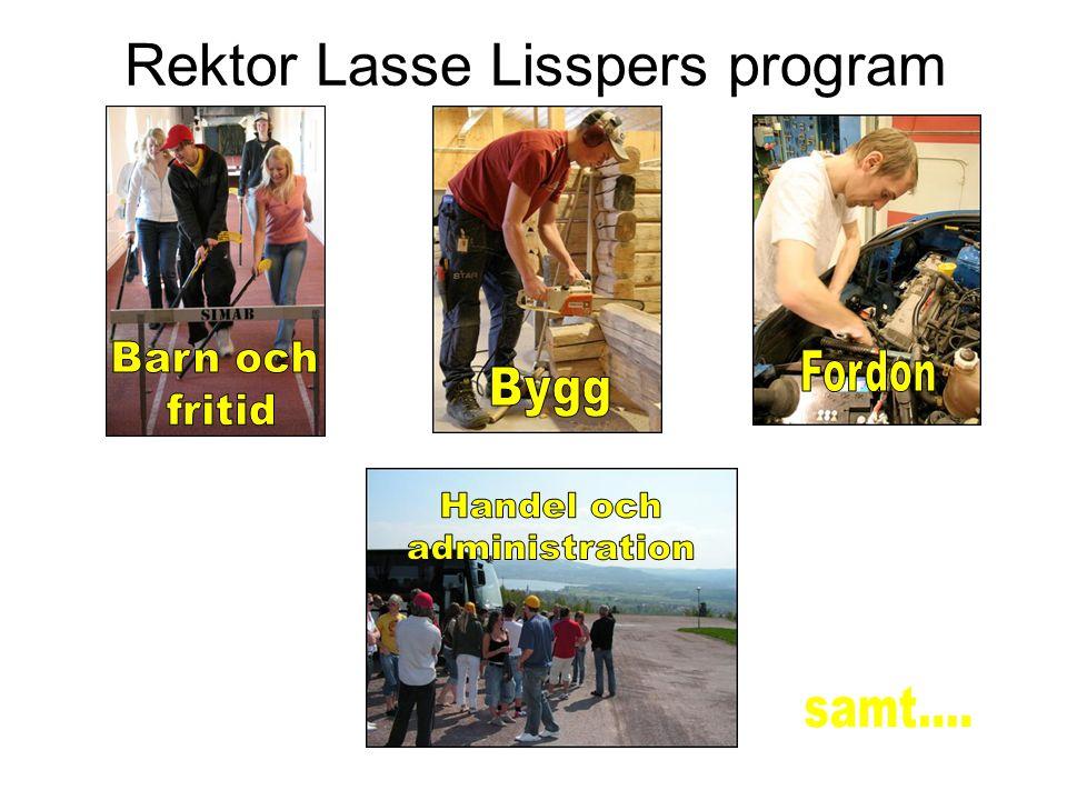 Rektor Lars Lisspers program