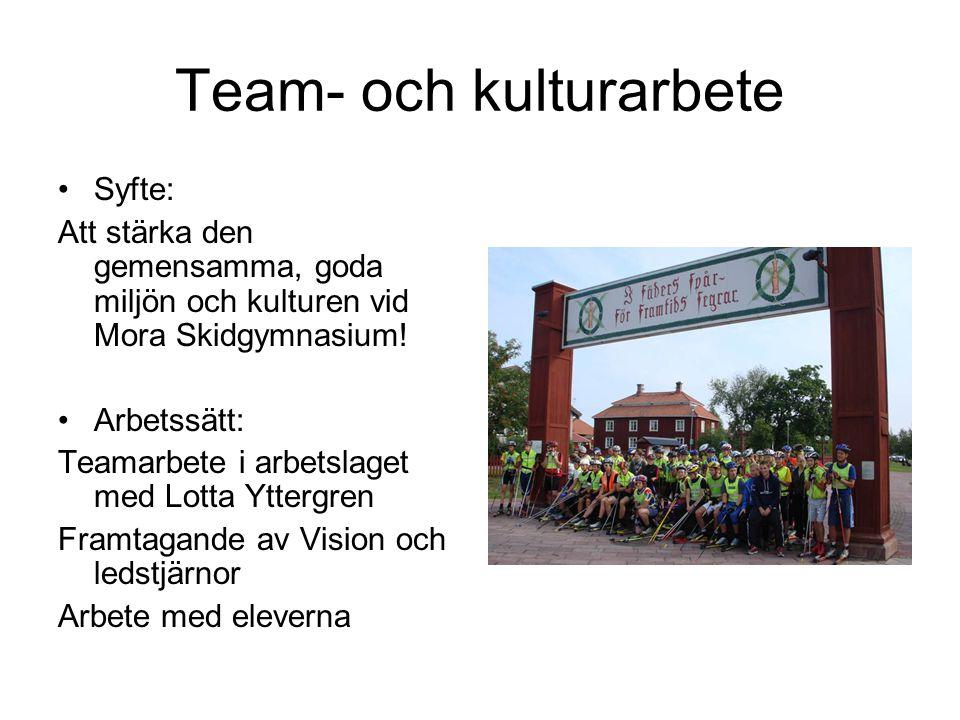 Team- och kulturarbete
