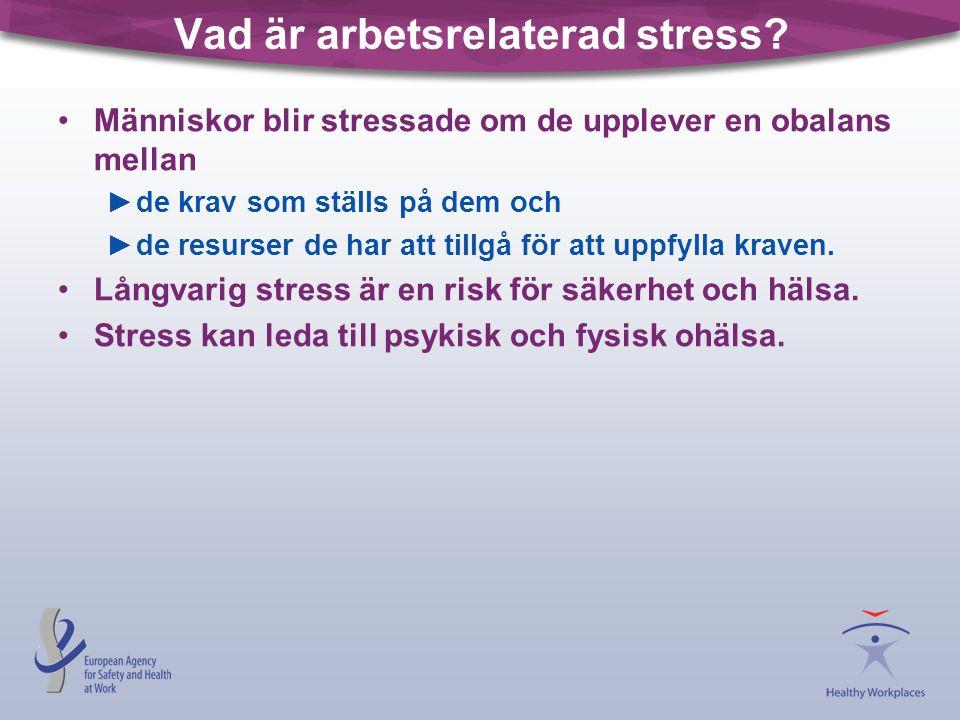 Vad är arbetsrelaterad stress