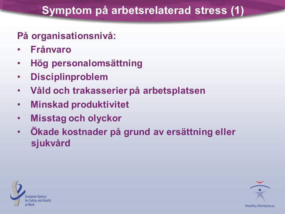 Symptom på arbetsrelaterad stress (1)